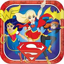 Super Heroe Girls Plts 7in Amscan No.541609