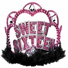 Sweet 16 Sparkle Electroplated Tiara - Plastic