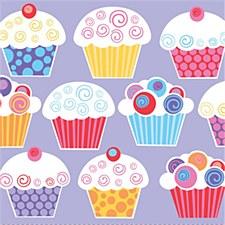 Sweet Cupcake Luncheon Napkin