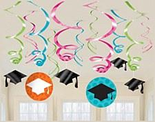 Graduation Swirl Colorful Dangler