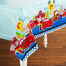 Tablecover Cars 1st Birthday 54inx108