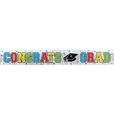 Graduation Metallic Fringe Banner 5ft