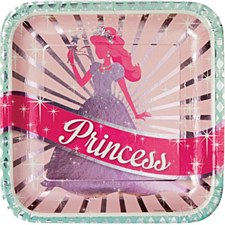 Princess Party Plates: 10""