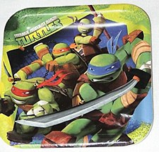 Teenage Mutant Ninja Turtles Lunch Plates 9""