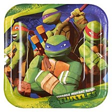 Teenage Mutant Ninja Turtles Dessert Plates 7""