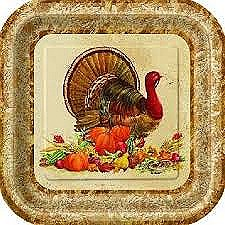 TURKEY 9IN PLATE 8CT