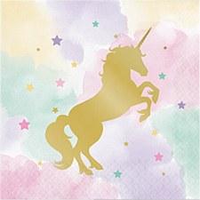 Sparkling Unicorn Lunch Napkins