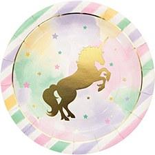 Sparkling Unicorn Dinner Plate 9in