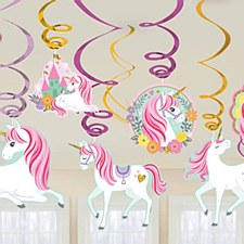 Swirl Decortaions Unicorn 12ct.