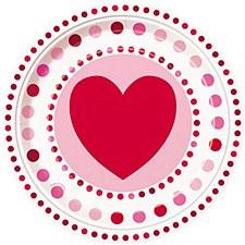 """9"""" Radiant Heart Dinner Plate"""
