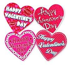 4 Valentine Heart Cutouts
