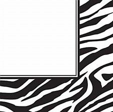 Animal Print Zebra Lunch Napkin
