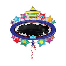"31"" Bright Star Black Board Marquee SuperShape"