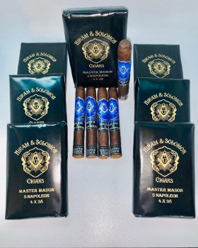 Hiram and Solomon Master Mason Napoleon Master Pack 10 packs of 5 cigars