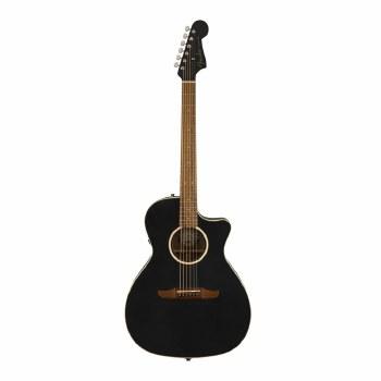 Fender California Series Newporter Special Guitar Matte Black with Gig Bag