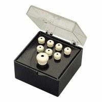 Fender Bridge Pin Set Ivory with Black Dot