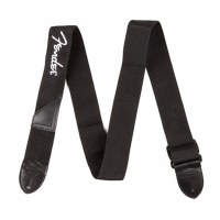 Fender Black Polyester Strap With White Fender Logo