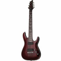 Schecter Hellraiser C-7 7 String Electric Guitar Black Cherry