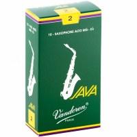 Vandoren 10 Pack Java Alto Saxophone Reeds Size #2 (SR262)