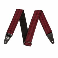strap houndstooth red