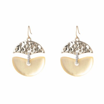 Alexis Bittar Hammered Metal Mobile Wire Earring
