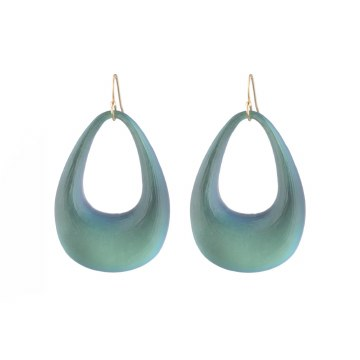 Alexis Bittar Small Tapered Hoop Earring
