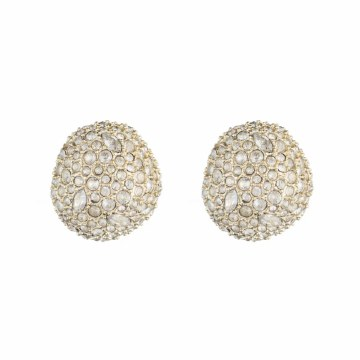 Alexis Bittar Crystal Encrusted Button Earring