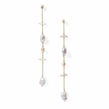 Chan Luu Grey Pearl Mix Earrings