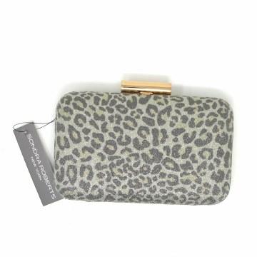 Sondra Roberts Leopard Gold Bag