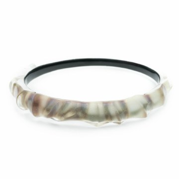 Alexis Bittar Scultural Bangle Mother of Pearl