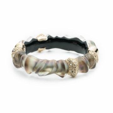 Alexis Bittar Scultureal Hinge Bracelet Mother of Pearl