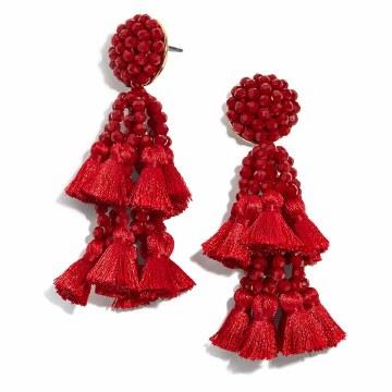 BaubleBar Amaranthus Red Drop Earrings