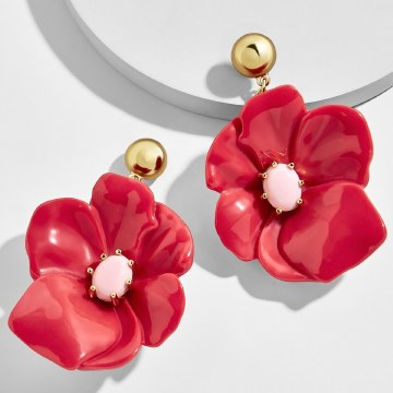 BaubleBar Dahlia Flower Earrings