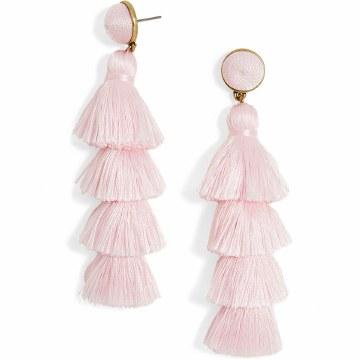 BaubleBar Antonella Light Pink Tassles