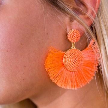 BaubleBar Marinella Orange Earrings