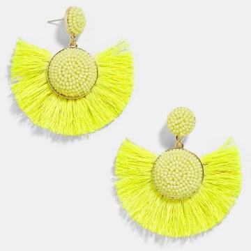 BaubleBar Beaded Marinella Yellow Earrings