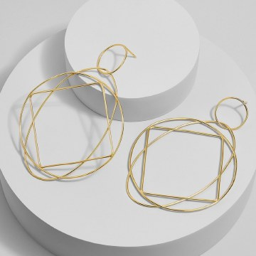 BaubleBar Quad 18k Gold Plated Drop Earrings