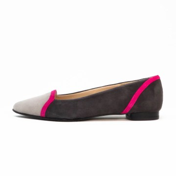 Brenda Zaro Luna Grey Color Block Flat