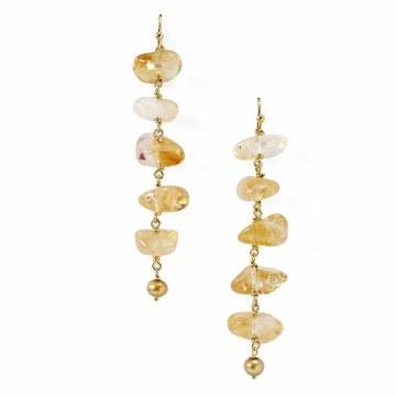 Chan Luu Citrine Ladder Earrings