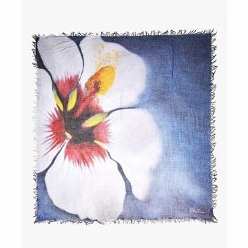 Chan Luu Blue Hibiscus Scarf