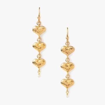 Chan Luu Gold Pearl Heart Earrings