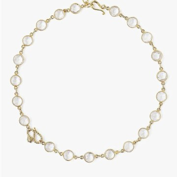 Chan Luu Snake and Clear Quartz Necklace