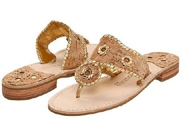 Jack Rogers Napa Valley Cork and Gold