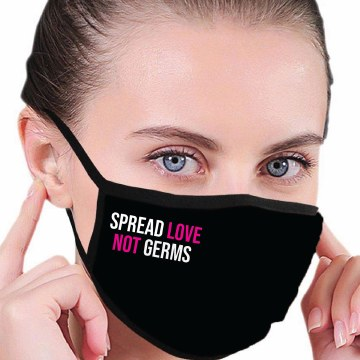 House of Tens Spread Love Not Germs Mask