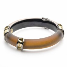 Alexis Bittar Two Tone Sectioned Hinge Bracelet
