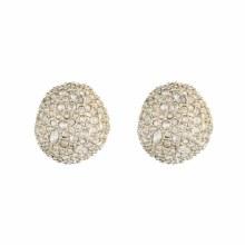 Alexis Bittar Crystal Encrusted Button Earring