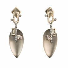 Alexis Bittar Brutalist Tear Drop Post