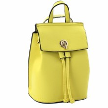 ACE Yellow Faux Leather Backpack