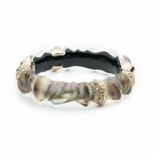 Alexis Bittar Scultureal Hinge Bracelet Mother of Pearl