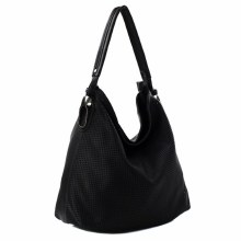 ACE Black Faux Leather Tote